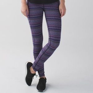Lululemon Speed Tight IV Space Dye Twist Purple 6